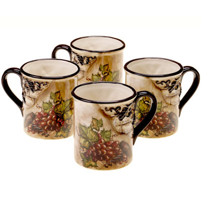 Certified International Tuscan View Set of 4 Mugs