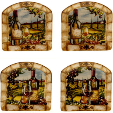 jcpenney.com | Certified International Tuscan View Set of 4 Canapé Plates