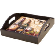 Certified International Tuscan View 4-Tile Tray