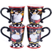 Certified International Chef's Special Set of 4 Mugs