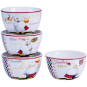 Certified International Chef's Special Set of 4 Ice Cream Bowls