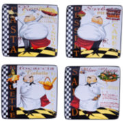 Certified International Chef's Special Set of 4 Canapé Plates