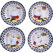 Certified International Chef's Special Set of 4 Soup/Pasta Bowls