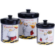 Certified International Chef's Special 3-pc. Canister Set