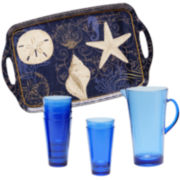 Certified International Coastal Moonlight 8-pc. Acrylic Beverage Set