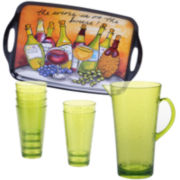Certified International Wine Picnic 8-pc. Acrylic Beverage Set