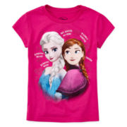 Disney Collection Frozen Graphic Glitter Tee - Girls 2-10