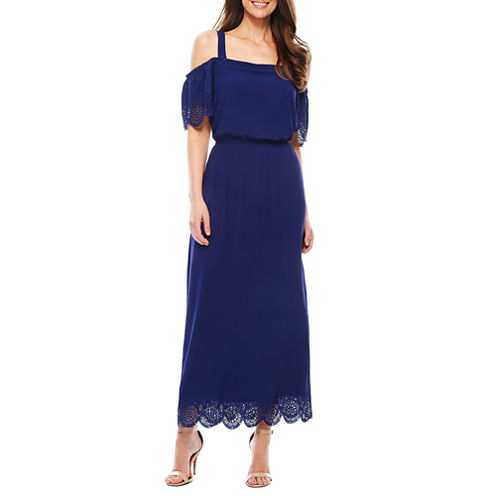 Robbie Bee Short Sleeve Maxi Dress