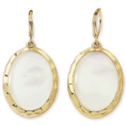 Monet® Mother-of-Pearl Oval Drop Earrings