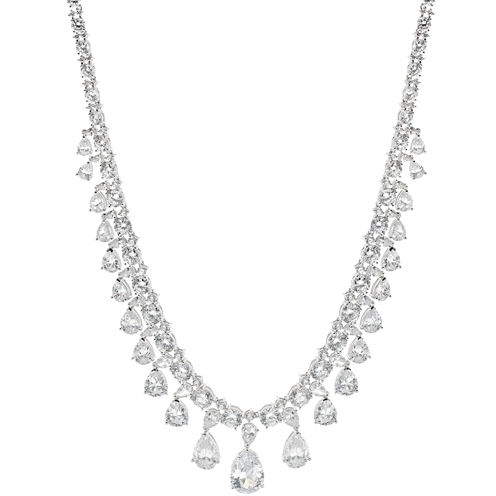 CZ by Kenneth Jay Lane Cubic Zirconia Vintage Drama Necklace