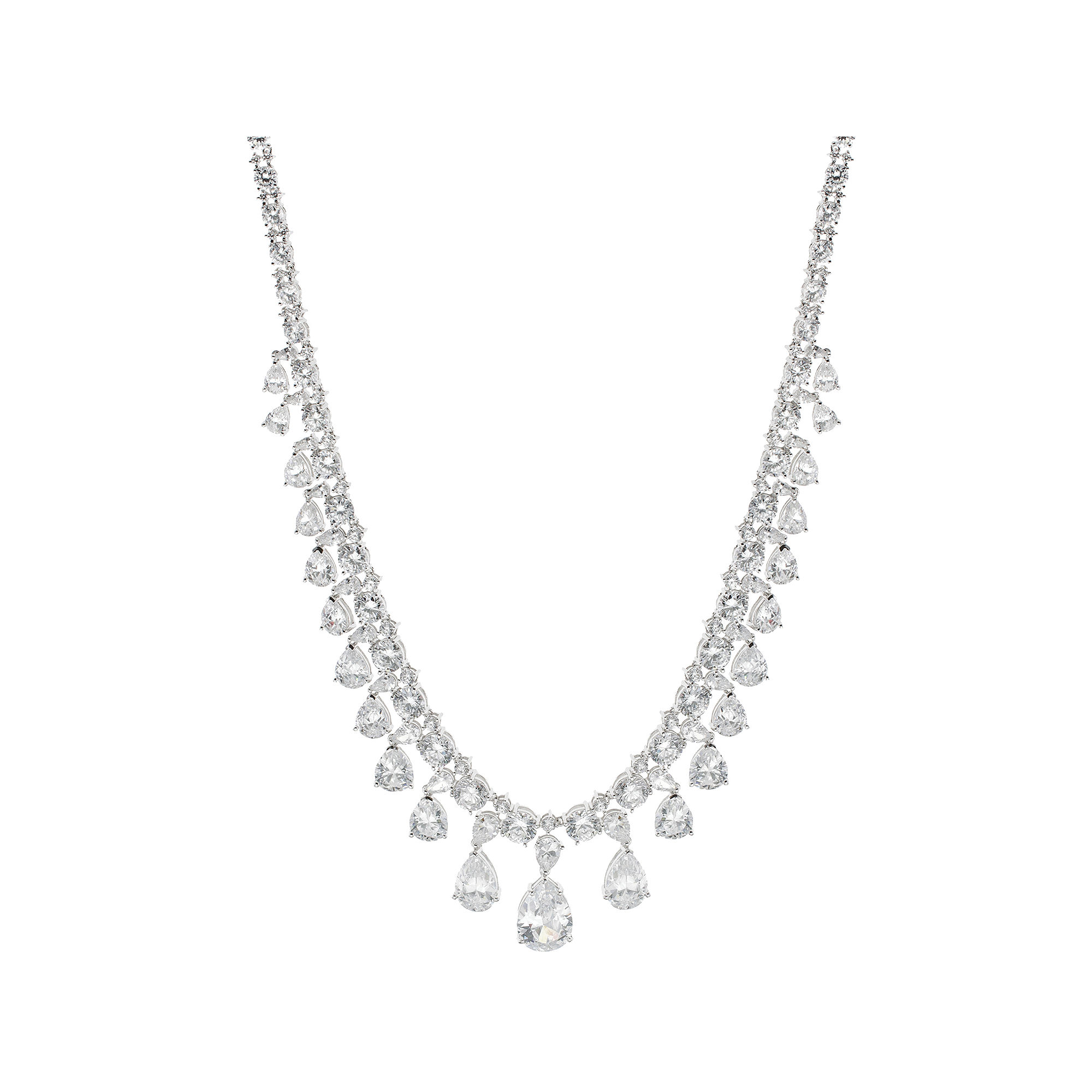 CZ by Kenneth Jay Lane Cubic Zirconia Vintage Drama Necklace plus size,  plus size fashion plus size appare