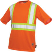 Work King High-Visibility Traffic T-Shirt–Big & Tall