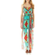 Ruby Rox Sleeveless Aztec Print Maxi Dress