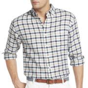 IZOD® Long-Sleeve Linen-Cotton Blend Multi-Checked Shirt