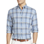 IZOD® Long-Sleeve Linen-Cotton Blend Multi-Checked Shirt