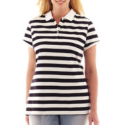 Liz Claiborne Short-Sleeve Polo Shirt - Plus