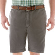 IZOD® Flat-Front Twill Shorts-Big & Tall