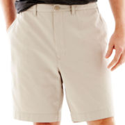 IZOD® Flat–Front Twill Shorts–Big & Tall
