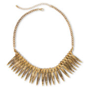 Decree® Leaf Spikes Collar Necklace