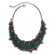 Aris by Treska Seed Bead Bib Necklace