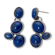 Aris by Treska Dark Blue Drop Earrings