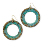 Aris by Treska Aqua Enamel Earrings