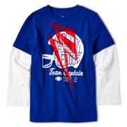 Okie Dokie® Long-Sleeve Layered Graphic Tee - Boys 2y-6