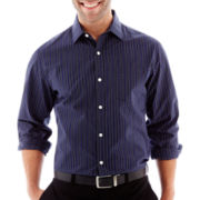 Claiborne® Long-Sleeve Striped Button-Front Shirt