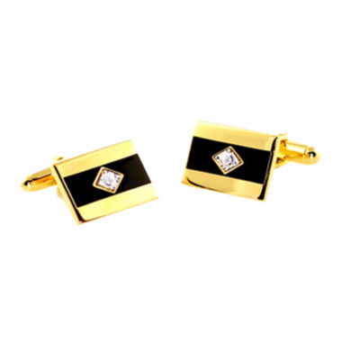 jcpenney.com | Gold-Tone Diamond Accent Cuff Links