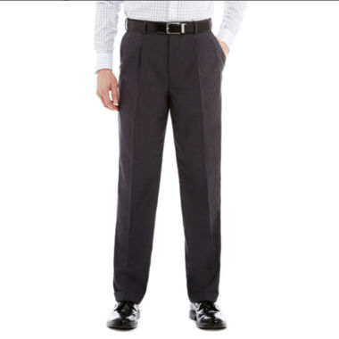 jcpenney.com | Stafford® Travel Sharkskin Pleated Dress Pants - Classic