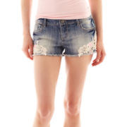 Vanilla Star Embroidered Denim Shorts