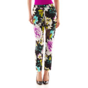 Worthington® Floral Soft Pants - Petite
