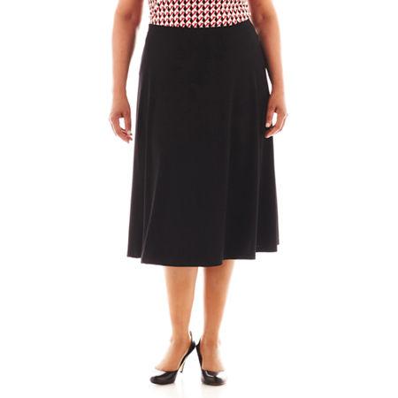 Liz Claiborne Long Knit Skirt - Plus