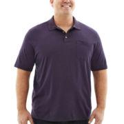 Van Heusen® Short-Sleeve Feeder Stripe Polo–Big & Tall