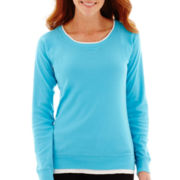Made For Life™ Long-Sleeve Layered Scoopneck Sweatshirt
