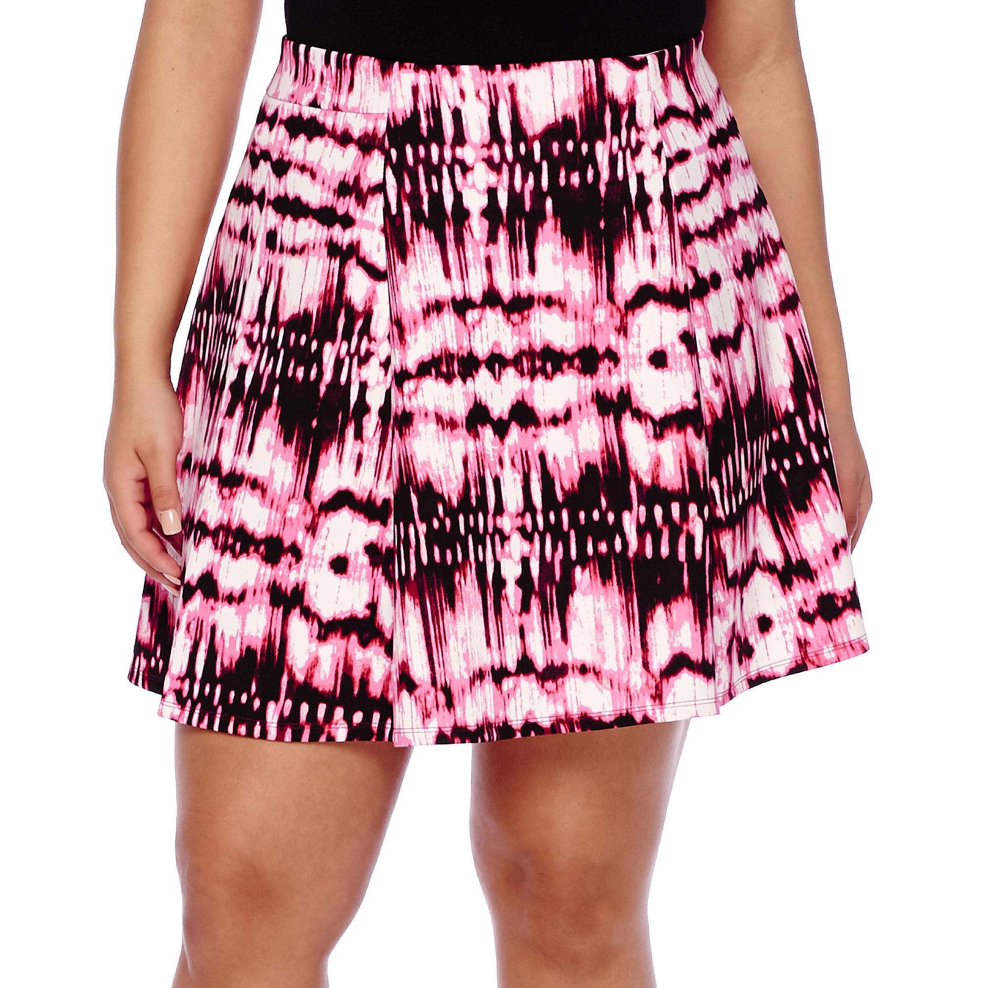 Decree Scuba Skater Skirt - Juniors Plus plus size,  plus size fashion plus size appare