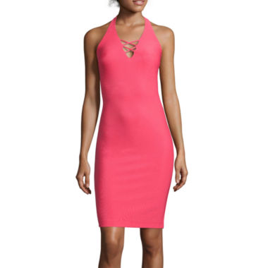 jcpenney.com | Bisou Bisou® Criss-Cross Back Bodycon Halter Dress