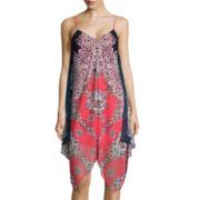 by&by Sleeveless Alternative-Hem Dress With Necklace