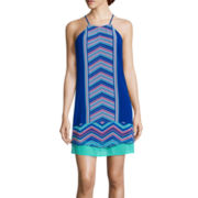 Love Reigns Sleeveless Peekaboo A-Line Dress - Juniors