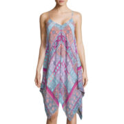 Speechless® V-Neck Chiffon Printed Trapeze Dress