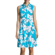 Studio 1® Sleeveless Floral Shirt Dress