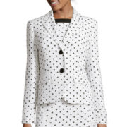 Black Label by Evan-Picone Long-Sleeve Polka Dot Jacket