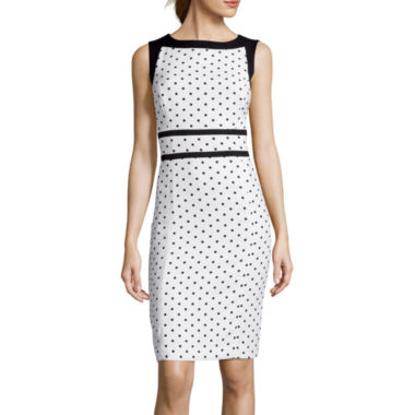 jcpenney.com | Black Label by Evan-Picone Sleeveless Polka Dot Sheath Dress