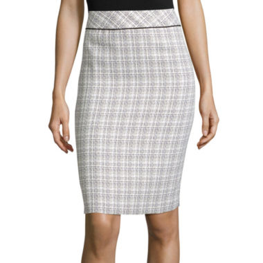 jcpenney.com | Black Label by Evan-Picone Piped Plaid Pencil Skirt