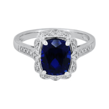 jcpenney.com | Lab-Created Blue Sapphire Sterling Silver Ring
