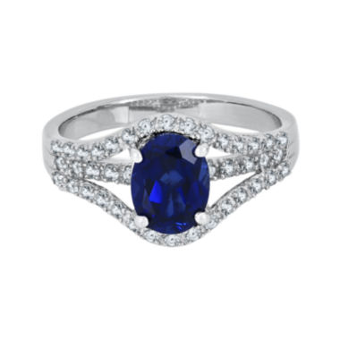 jcpenney.com | Lab-Created Blue & White Sapphire Sterling Silver Ring