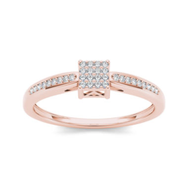 jcpenney.com | 1/6 CT. T.W. Diamond 10K Rose Gold Engagement Ring