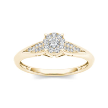 jcpenney.com | 1/6 CT. T.W. Diamond 10K Yellow Gold Engagement Ring
