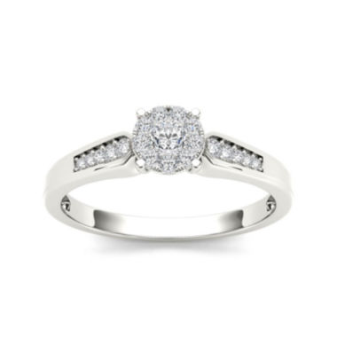 jcpenney.com | 1/4 CT. T.W. Diamond 10K White Gold Engagement Ring