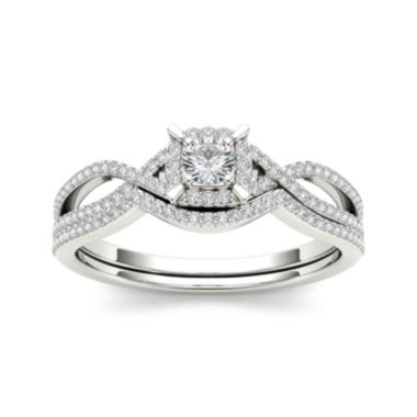 jcpenney.com | 1/3 CT. T.W. Diamond 14K White Gold Engagement Ring